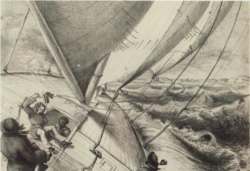 BW boat sailing