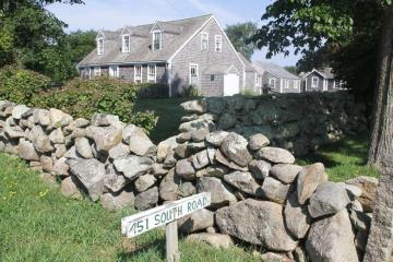 barn house stone wall south road