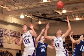 Ryan Fisher Izak Browne boys basketball