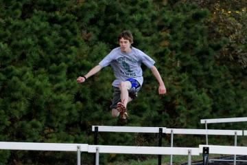 Chase Sylvia jumping hurdles
