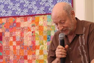 Bill Ganson microphone quilt