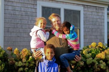 kids dad John Chivers Charlotte Jonathan Josephine