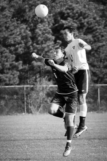Jack Roberts soccer ball BW