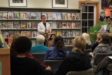 Justen Ahren Writers Residency Series library