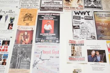 Posters advertisements bulletin board