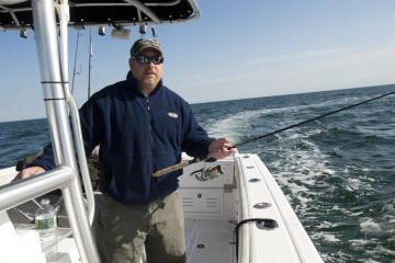 Steve Purcell boat fishing