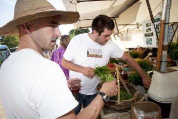 Chris Fischer Myles Montjoi vegetables chef