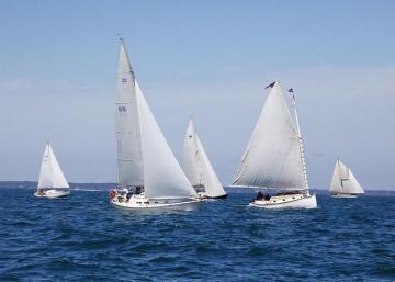 sailboats ocean Moffett Race
