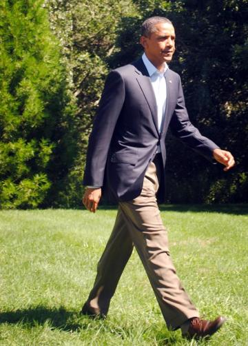 Obama press conference potus president strides