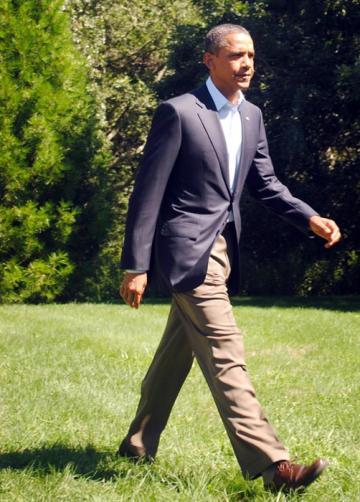 Obama press conference potus president strides