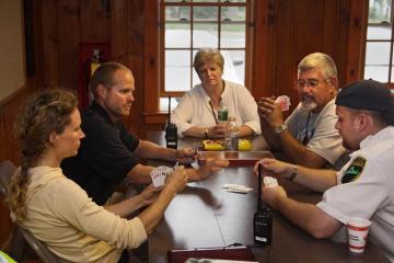 people meeting table
