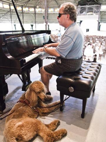 David Crohan piano poodle stage