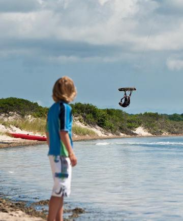 Kite surfer pond beach