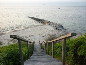 steps beach jetty