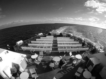 ferry deck ocean