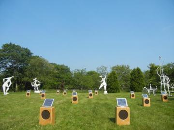 field gallery solar boxes sculpture
