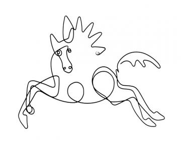 wire horse sculpture