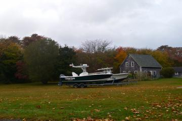 boat stored during storm