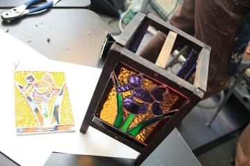 stained glass lantern Oscar Thompson