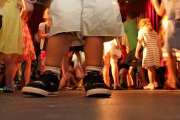 Child Shoes Shorts Floor