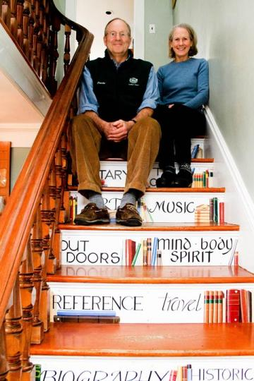 David Ann LeBreton bookstore stairway