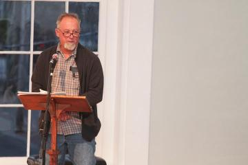 Edgartown poet laureate Steve Ewing