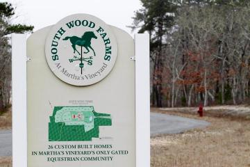 south woods farm sign