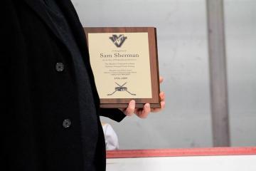 Sam Sherman award plaque