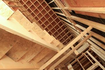 Interior stairs framework