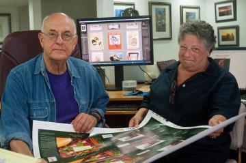 Alan Brigish Susan Klein proof sheet computer monitor