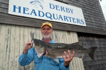 Michael Stimola catche sa fish at the derby