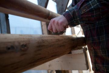 plane wood mast
