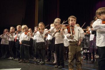 Violins concert kids musicians