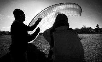 Waban Park paraglide