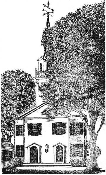 West Tisbury church woodcut