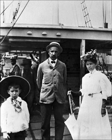 family aboard Charles. W. Morgan