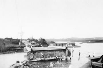 Damage to Quitsa Bridge by Hurricane Carol