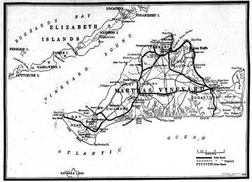 Map of Martha's Vineyard, 1933