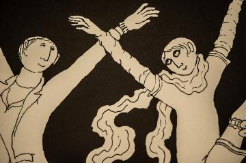 Dancers from one of Edward Gorey's Cape Cod theatre posters.