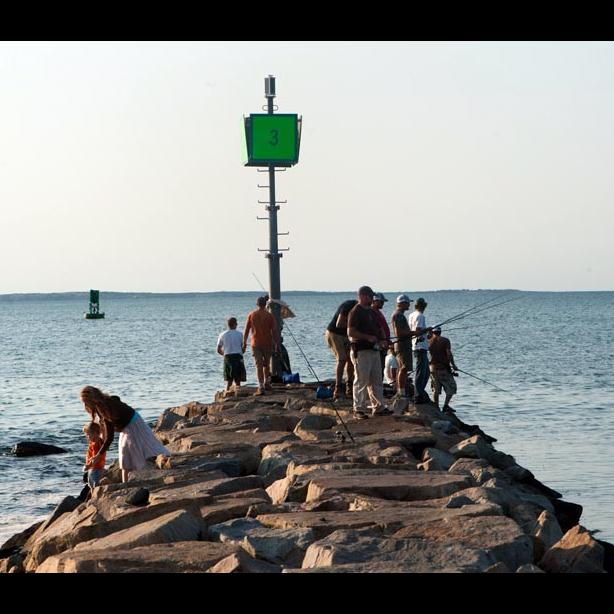 Fishing on Menemsha jetty