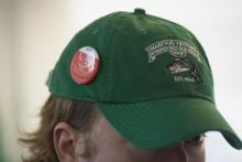 Derby hat and pin