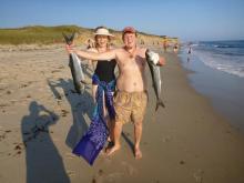 Wilde Whitcomb bluefish beach