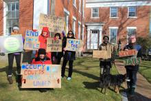 Occupy Protestors gathered at Courthouse