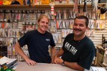 Doug Asselin and Steve Morris fishermen of the Martha's Vineyard Striped Bass and Bluefish Derby