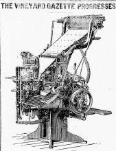 Linotype image in July 22, 1920 Vineyard Gazette