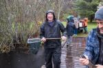 Stocking Duarte's Pond for kids' trout tournament