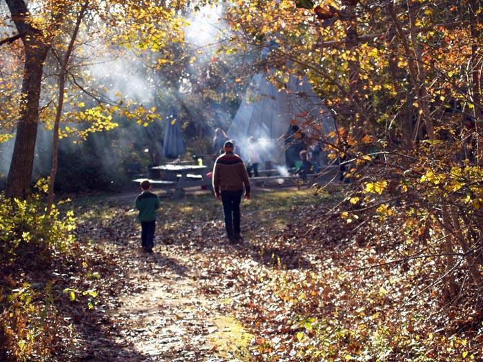 campfire smoke fall child
