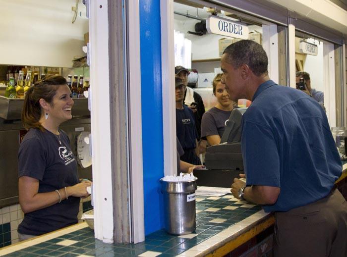 president obama potus seafood takeout