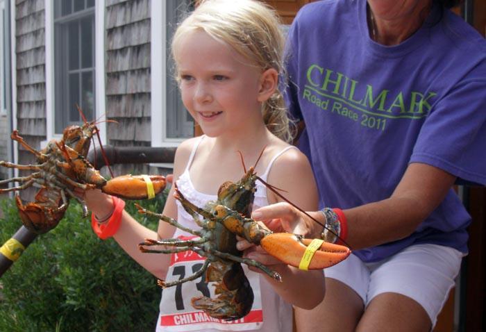 Megan Joel and lobsters