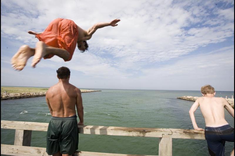 bridge jumping